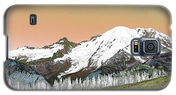 Galaxy S5 Case featuring the photograph Mount Rainier National Park II by Ann Johndro-Collins