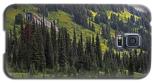 Galaxy S5 Case featuring the photograph Mount Rainier Ridges And Fir Trees.. by Tom Janca