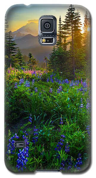 Mountain Galaxy S5 Case - Mount Rainier Sunburst by Inge Johnsson