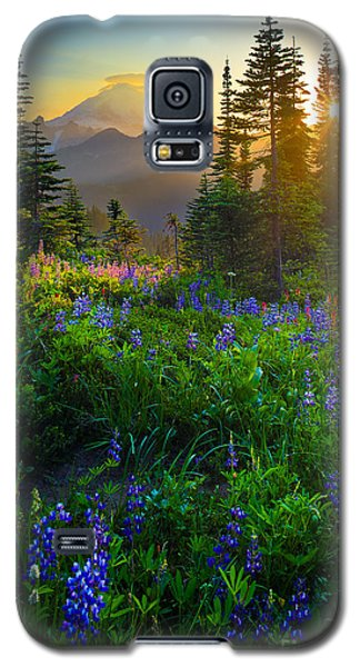 Sunset Galaxy S5 Case - Mount Rainier Sunburst by Inge Johnsson