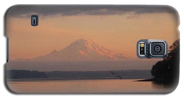 Galaxy S5 Case featuring the photograph Mount Rainier Sunset by Karen Molenaar Terrell