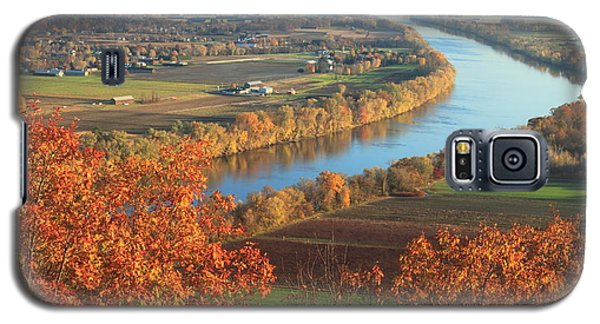 Mount Sugarloaf Connecticut River Autumn Galaxy S5 Case by John Burk