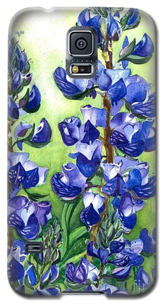Galaxy S5 Case featuring the painting Mountain Blues Lupine Study by Barbara Jewell