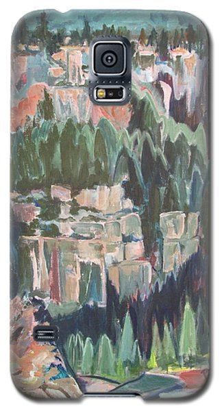 Galaxy S5 Case featuring the painting Mountain Cathedral by Betty Pieper
