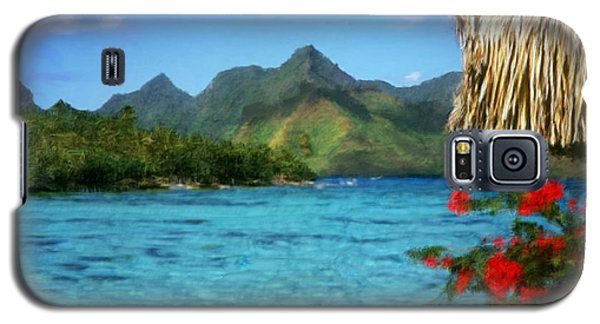 Galaxy S5 Case featuring the painting Mountain Lake by Bruce Nutting