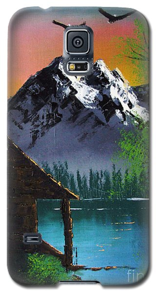 Mountain Lake Cabin W Eagles Galaxy S5 Case