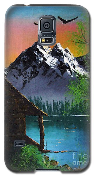 Mountain Lake Cabin W Eagles Galaxy S5 Case