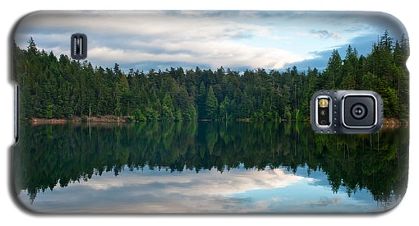 Mountain Lake Reflection Galaxy S5 Case by Crystal Hoeveler