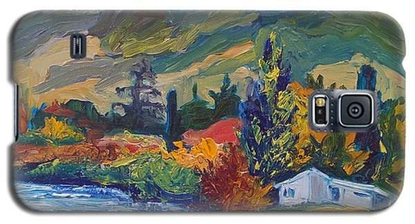 Mountain Painting Oil Landscape Ekaterina Chernova Galaxy S5 Case