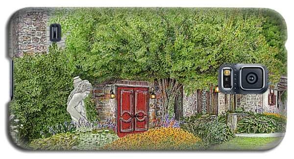 Galaxy S5 Case featuring the painting Mountain Playhouse Jennerstown Pa by Albert Puskaric