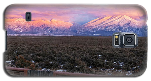 Sangre De Cristo Galaxy S5 Case - Mountain Range Viewed From A Adobe by Panoramic Images