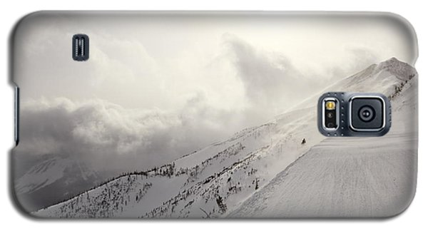 Mountain Snow Storm Approaching Ski Run Galaxy S5 Case