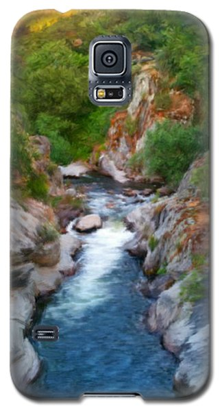 Galaxy S5 Case featuring the painting Mountain Stream by Bruce Nutting
