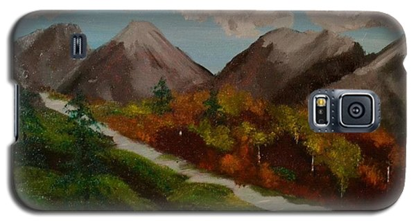 Galaxy S5 Case featuring the painting Mountain Stream by Denise Tomasura