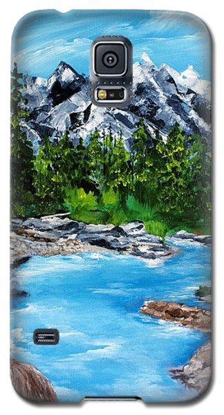 Galaxy S5 Case featuring the painting Mountain Stream  by Ellen Canfield