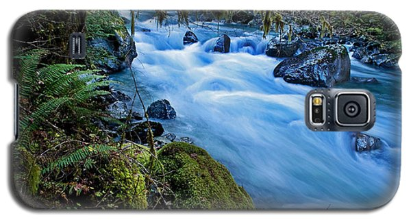 Galaxy S5 Case featuring the photograph Mountain Stream In Forest - Nooksack River Washington by Valerie Garner