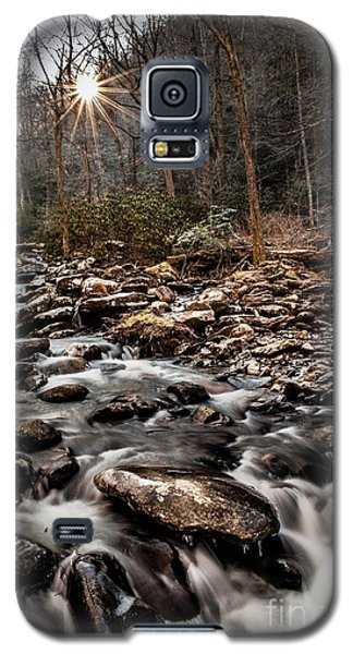 Galaxy S5 Case featuring the photograph Icy Mountain Stream by Debbie Green