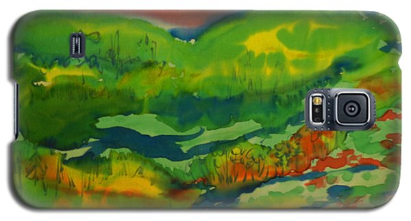Galaxy S5 Case featuring the painting Mountain Streams by Susan D Moody