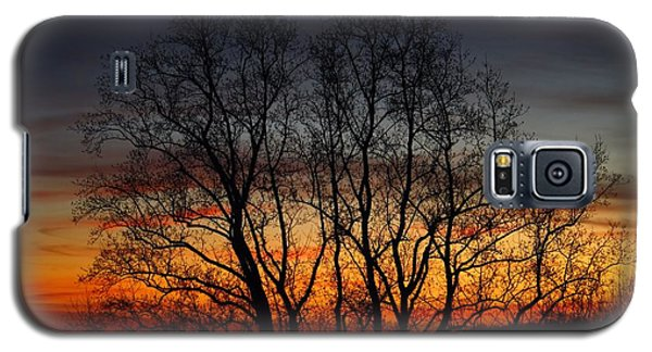 Galaxy S5 Case featuring the photograph Mountain Sunset by Kathryn Meyer