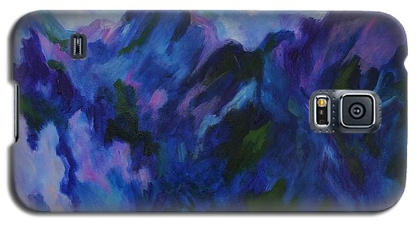 Galaxy S5 Case featuring the painting Mountain Symphony by Alison Caltrider