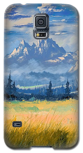 Galaxy S5 Case featuring the painting Mountain Valley by Richard Faulkner
