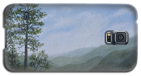 Galaxy S5 Case featuring the painting Mountain Vista 1 By K. Mcdermott by Kathleen McDermott