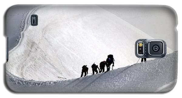 Mountaineers To Conquer Mont Blanc Galaxy S5 Case