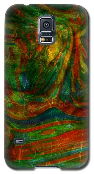 Galaxy S5 Case featuring the mixed media Mountains In The Rain by Ally  White