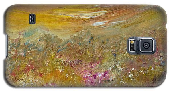 Mountains Of Wild Flowers Galaxy S5 Case