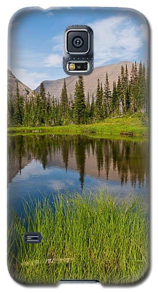 Mountains Reflected In An Alpine Lake Galaxy S5 Case by Jeff Goulden