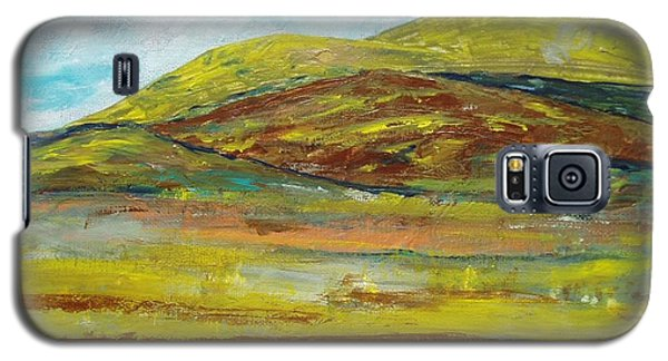 Galaxy S5 Case featuring the painting Mountains  by Reina Resto