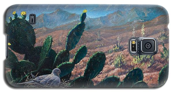 Galaxy S5 Case featuring the painting Mourning Dove Desert Sands by Rob Corsetti