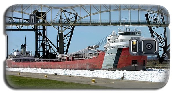 Moving Through The Ice To The Soo Locks Galaxy S5 Case