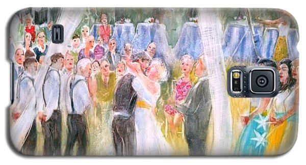 Galaxy S5 Case featuring the painting Mr. And Mrs. Matt Parker by Gertrude Palmer