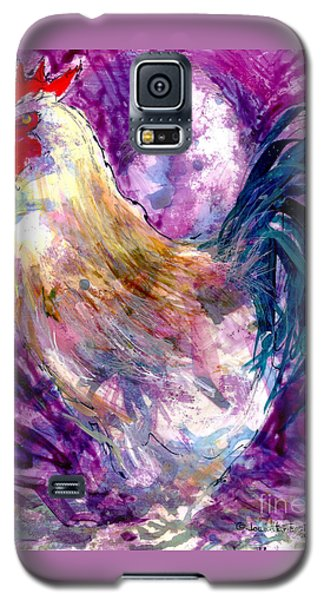 Galaxy S5 Case featuring the painting Mr. Rooster  by Joan Hartenstein
