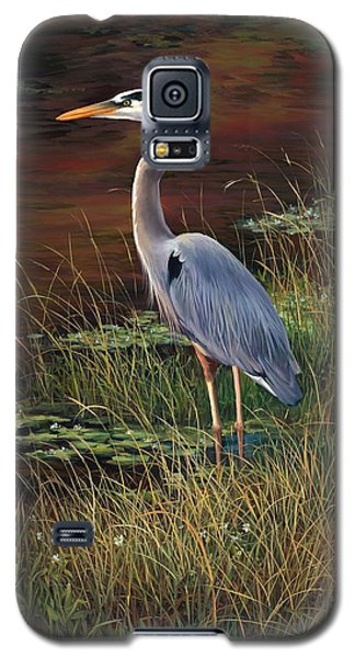 Mrs Blue Heron Galaxy S5 Case by Laurie Hein