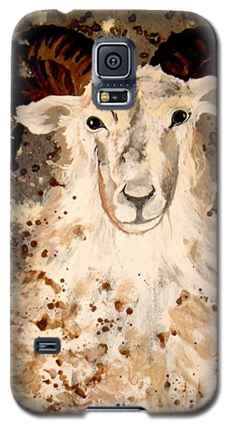 Galaxy S5 Case featuring the painting Powell Mountain Goat by Amy Sorrell