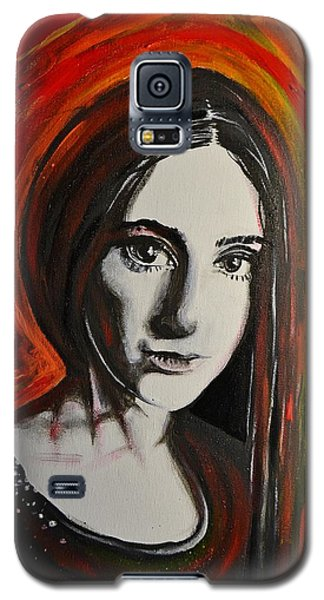 Portrait In Black #x Galaxy S5 Case by Sandro Ramani