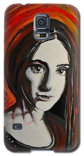 Portrait In Black #x Galaxy S5 Case by Sandro Ramani