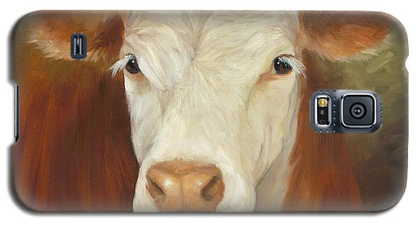 Ms Sophie - Cow Painting Galaxy S5 Case by Cheri Wollenberg
