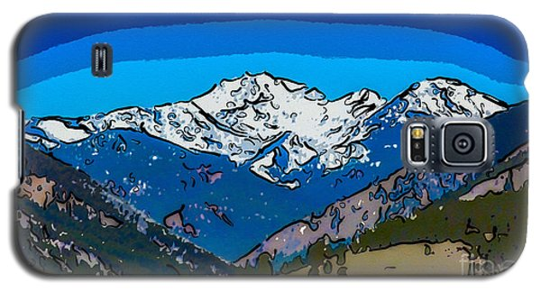 Mt Gardner In The Spring Abstract Painting  Galaxy S5 Case