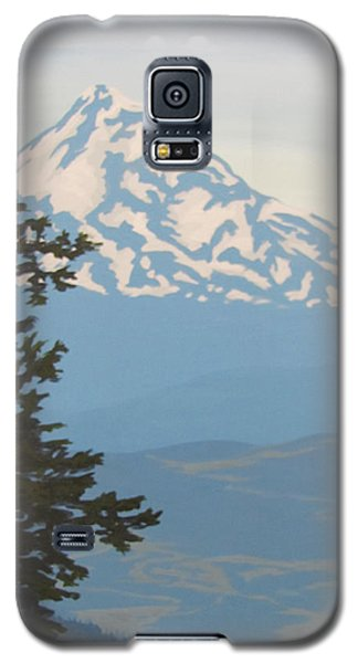 Galaxy S5 Case featuring the painting Mt Hood by Karen Ilari