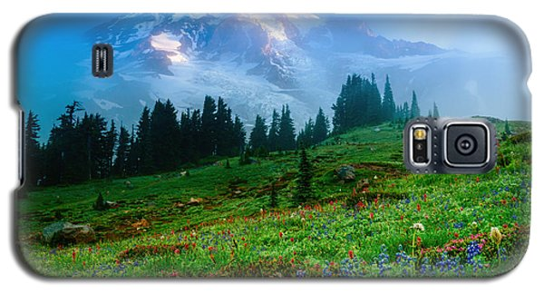 Mt. Rainier And Wildflowers Galaxy S5 Case