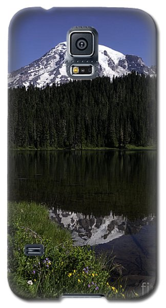 Mt Rainier From Reflection Lake Galaxy S5 Case