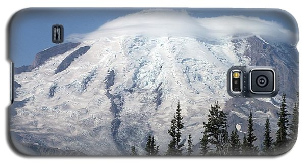 Galaxy S5 Case featuring the photograph Mt. Rainier In August 2 by Chalet Roome-Rigdon