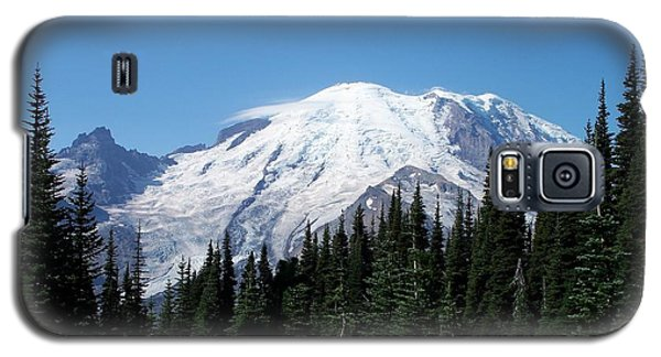 Galaxy S5 Case featuring the photograph Mt. Rainier In August by Chalet Roome-Rigdon