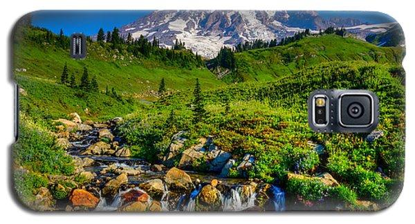 Galaxy S5 Case featuring the photograph Mt. Rainier Stream by Chris McKenna