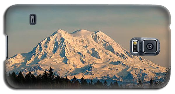 Mt Rainier Winter Panorama Galaxy S5 Case