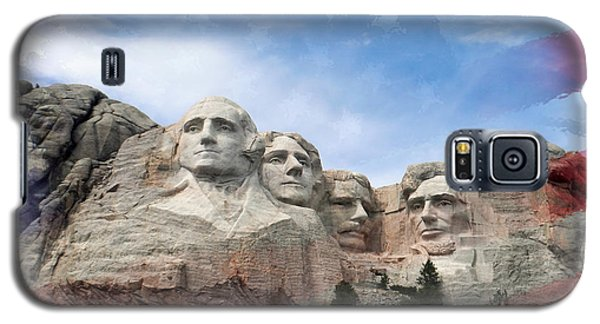 Mt Rushmore Flag Frame Galaxy S5 Case