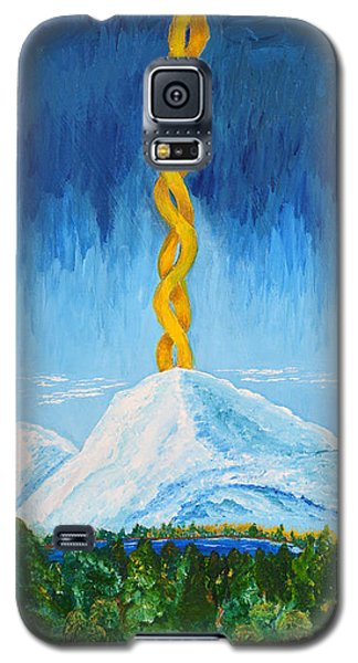 Galaxy S5 Case featuring the painting Mt. Shasta by Cassie Sears